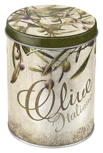 Plechová retro dóza - plechovka Olive Italiane