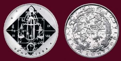 Stříbrná medaile Váhy 23.9.-22.10.