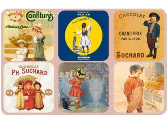 Korkové podtácky - podložky Children 6 kusů