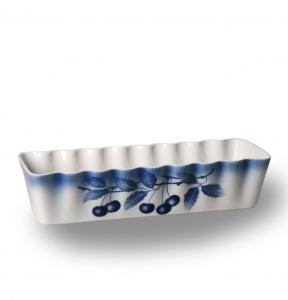 Porcelánová zapékací mísa Modré třešně srnčí hřbet - český porcelán Thun - Cherry
