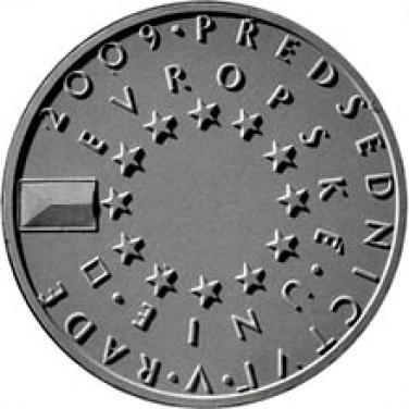 Stříbrná mince 2009 200,-Kč České předsednictví EU b.k.