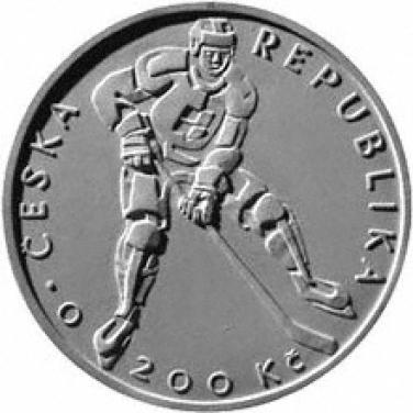 Stříbrná mince 2008 100. výročí založení Českého hokejového svazu b.k.