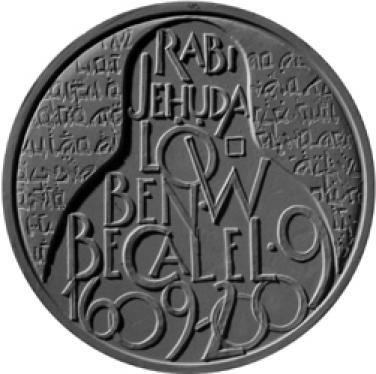 Stříbrná mince 2009 mince 200 Kč - 400 let narození Rabí Jehuda Low b.k.