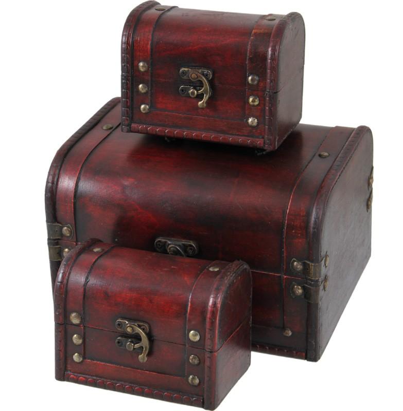 Dřevěná šperkovnice - truhlička Marcelka
