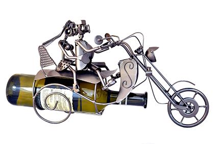 Stojan na víno Motorka s pasažéry