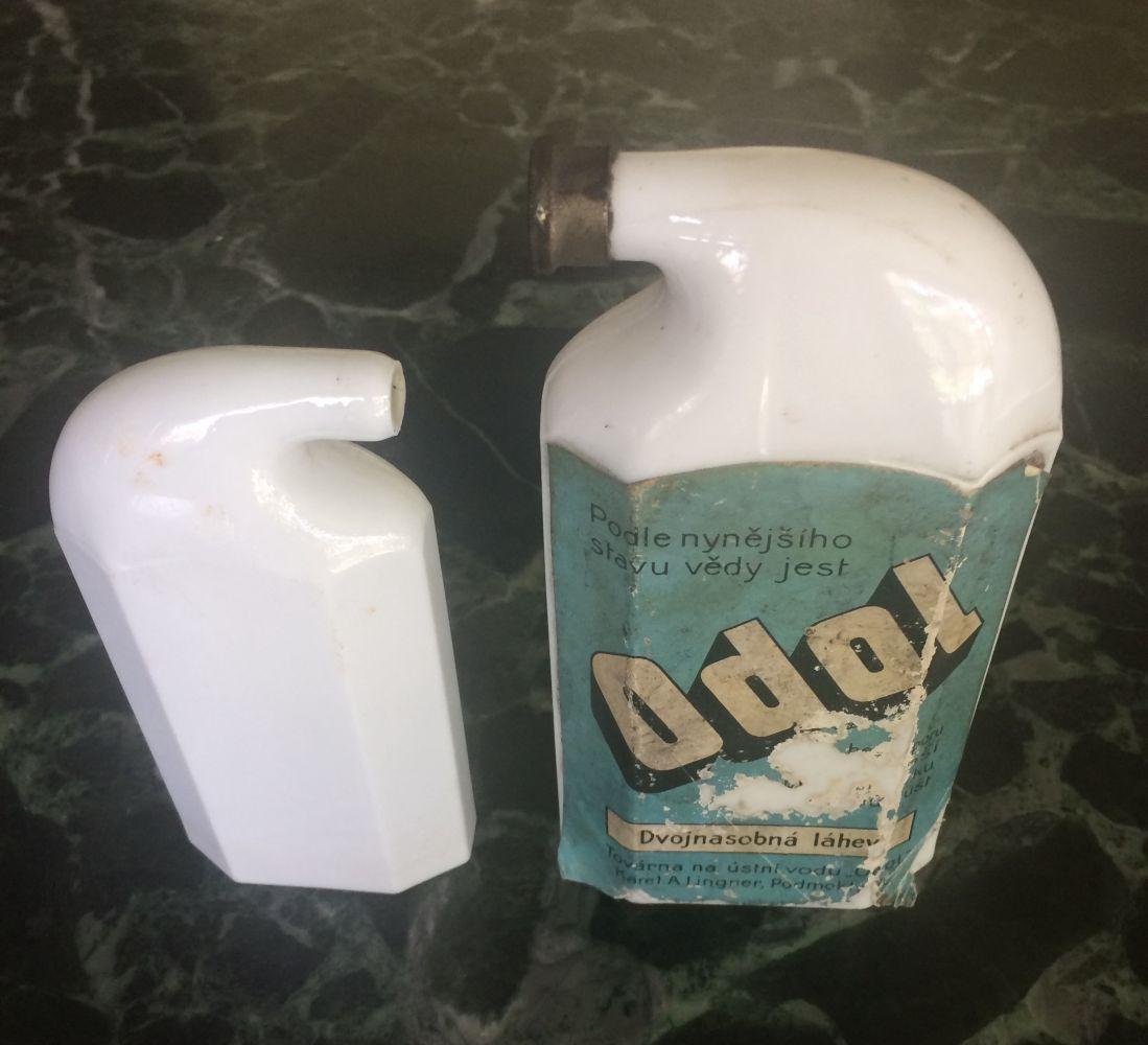 Starožitné lahvičky Odol