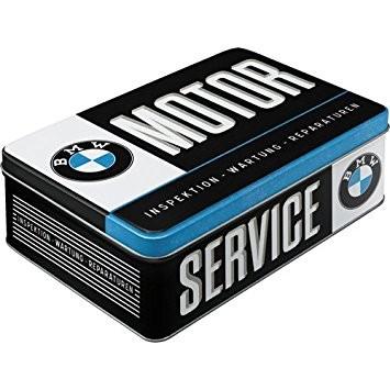 Plechová retro dóza - plechovka BMW motor service