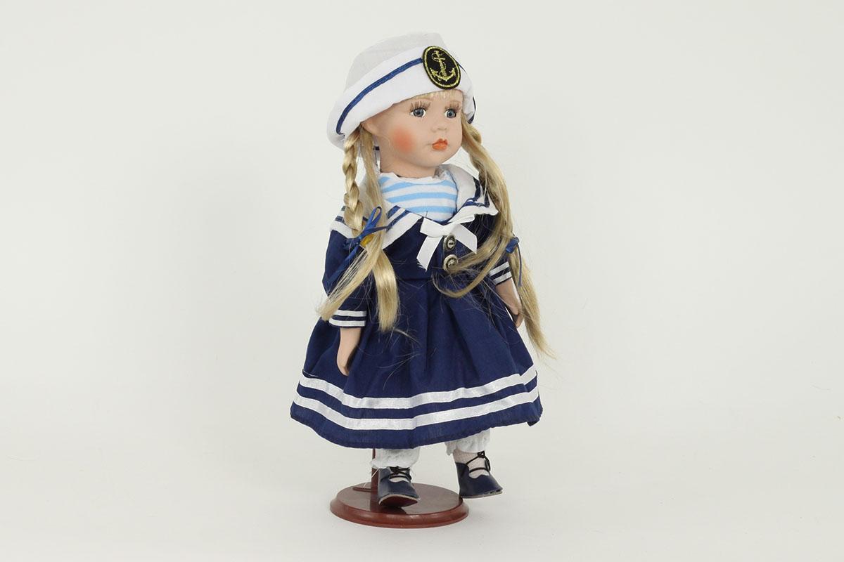 Porcelánová panenka Blondýnka námořník
