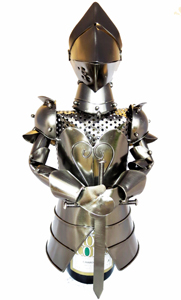 Stojan na víno Rytíř s mečem