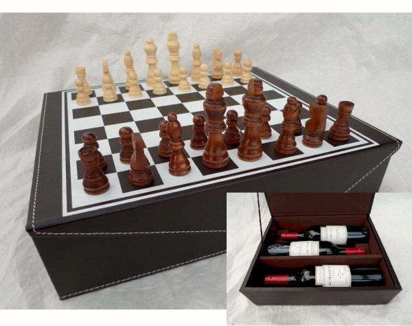Obal na víno Šachy na 3 láhve