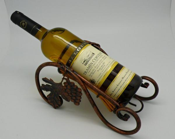 Kovový stojan na víno S hroznem