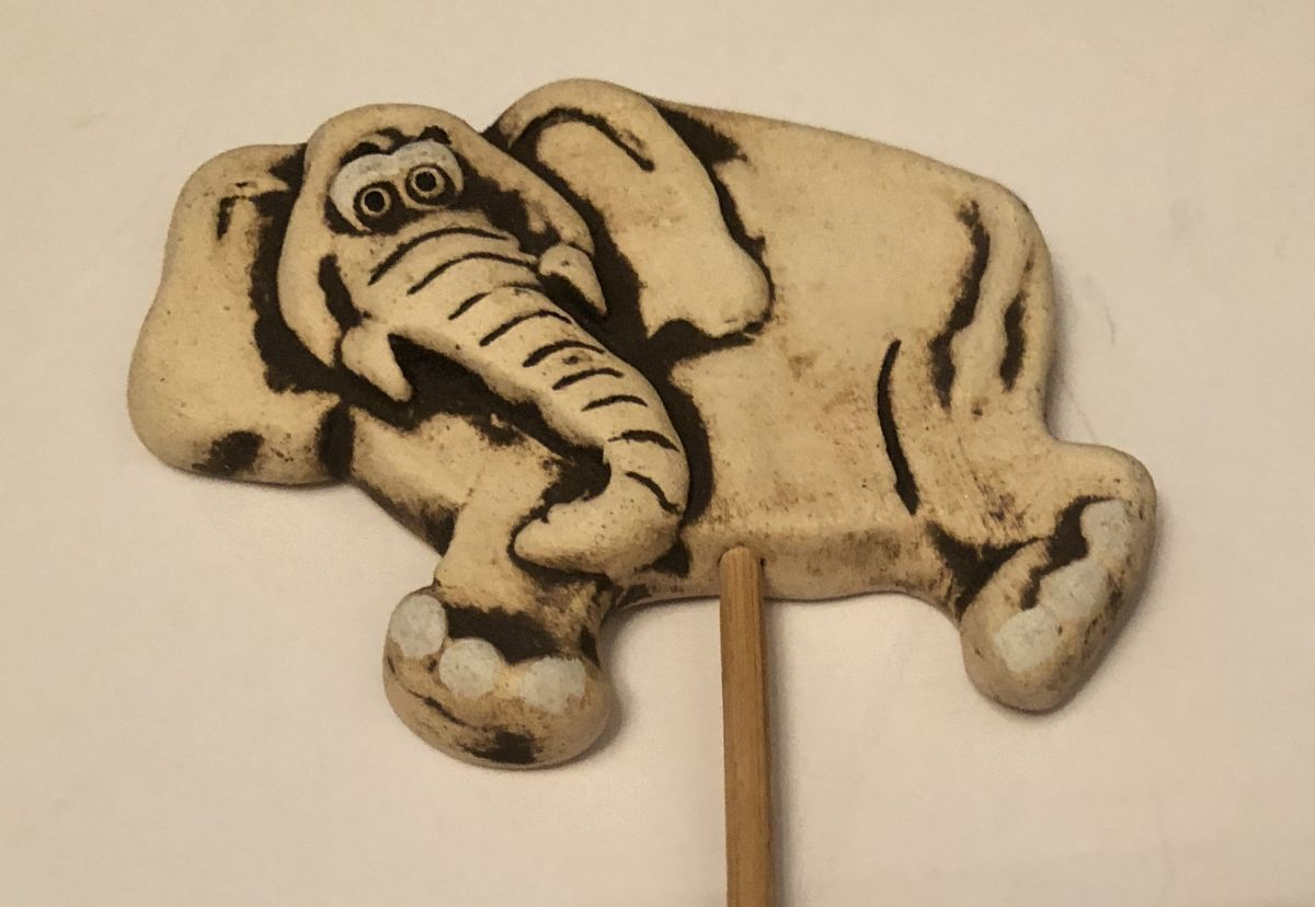 Keramický zápich Slon
