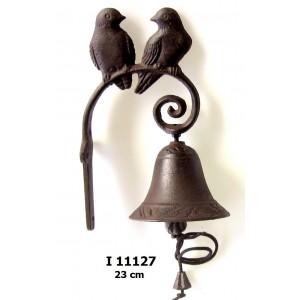 Litinový zvonek Dva ptáčci Simple