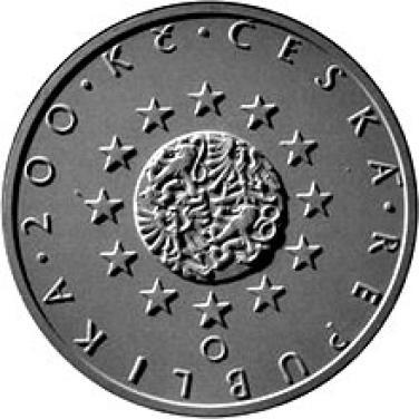 Stříbrná mince 2009 200,-Kč České předsednictví EU proof