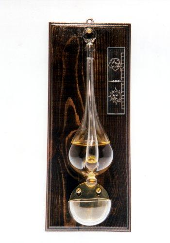 Skleněný Barometr na dřevě