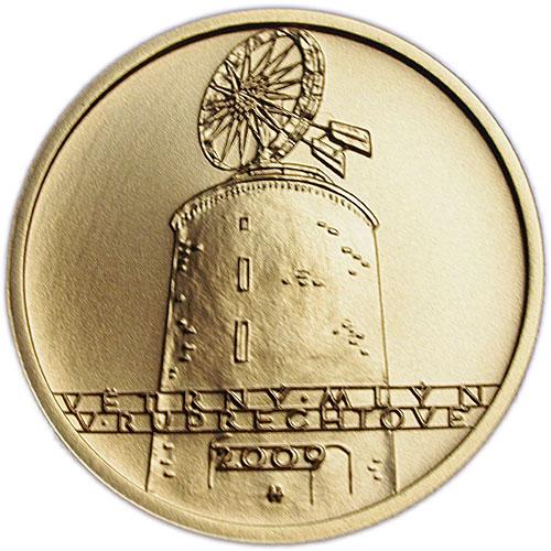 Zlatá mince Větrný mlýn v Ruprechtově proof