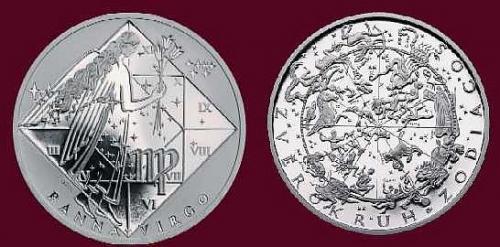 Stříbrná medaile Panna 23.8.-22.9.