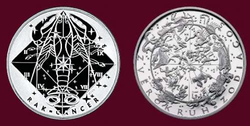 Stříbrná medaile Rak 22.6.-22.7.