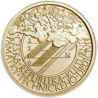 Zlatá mince Klementinum v Praze b.k.