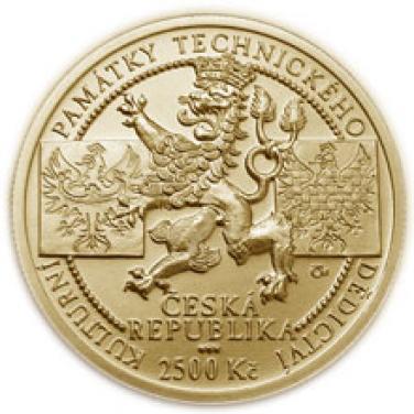 Zlatá mince Velké Losiny papírna b.k.