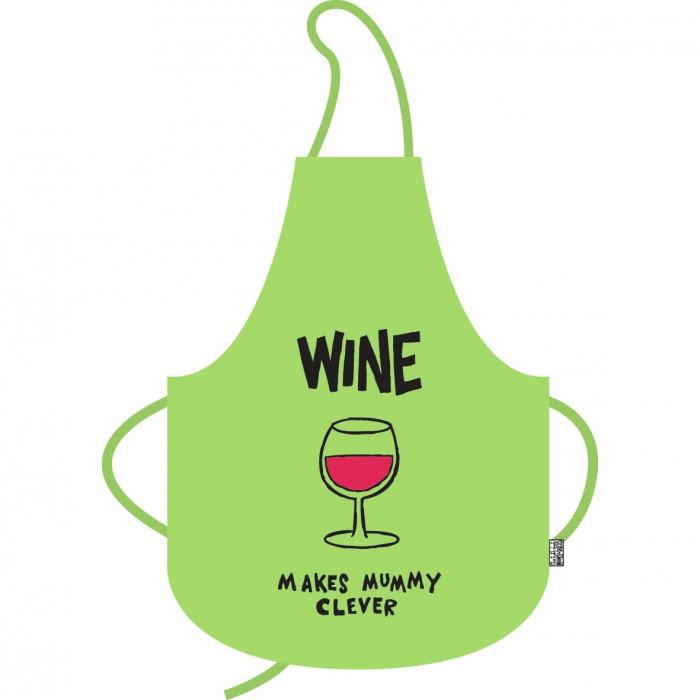 Zástěra Wine - Víno dělá maminku chytřejší!