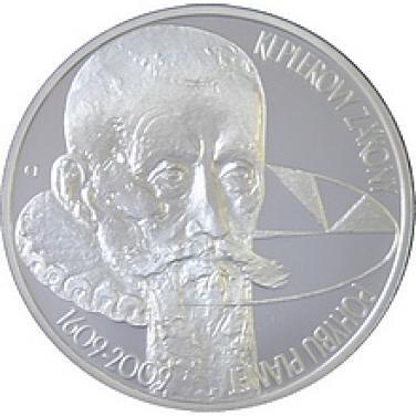 Stříbrná mince - 2009 200 Kč - 400 let formulovany první dva keplerovy zákony b.k.