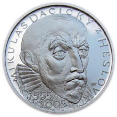 2005 - 200 Kč mince 450. výročí narození Mikuláše Dačického z Hesova b.k.