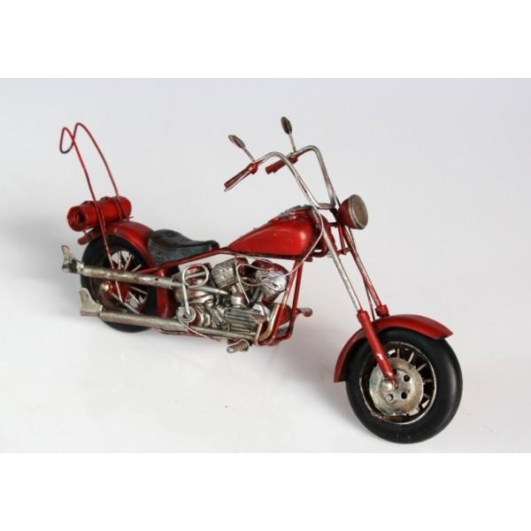 Plechový model Motorka Red Choper