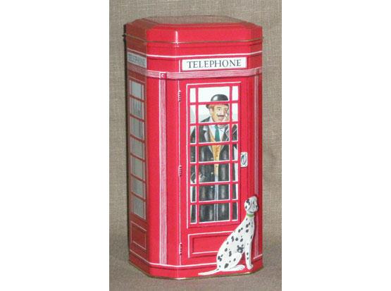 Plechová dóza London - telefonní budka L velká