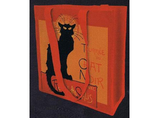 Retro taška Chat Noir - kočka