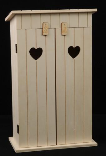 Dřevěný box na víno WC - Kadibudka 2 láhve
