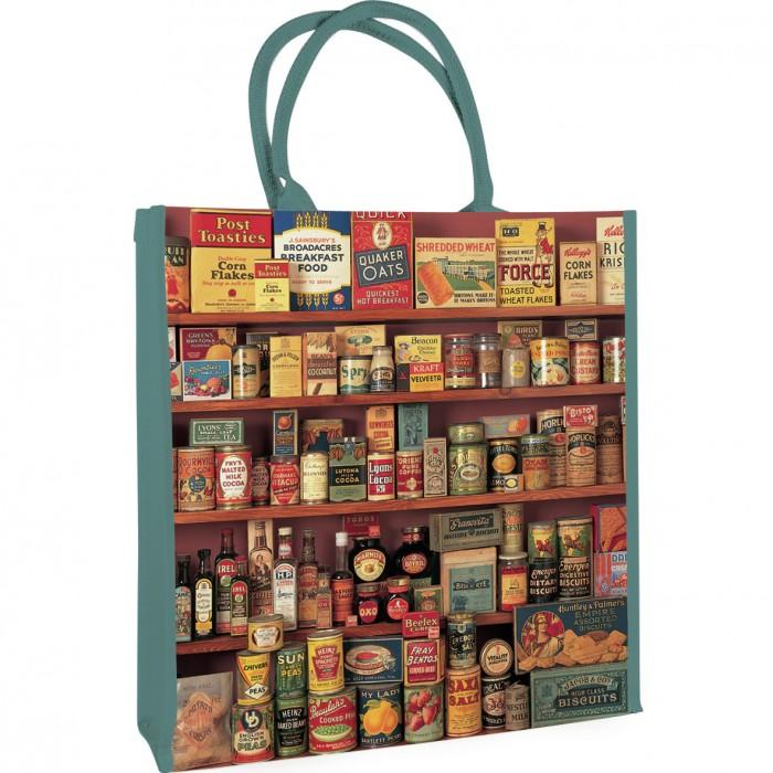 Retro taška na nákup Plechovky