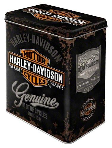 Plechová retro dóza - plechovka Harley Davidson B
