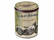 Plechová retro dóza - plechovka Harley Davidson Knucklehead