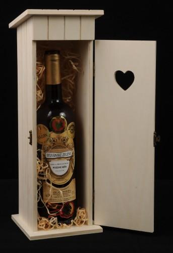 Dřevěný box na víno Kadibudka 1 láhev