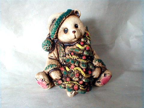 Vánoční dekorace - Medvídek se stromečkem
