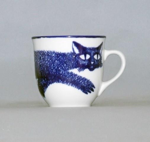Porcelánový hrnek Kočka - český porcelán DUBÍ