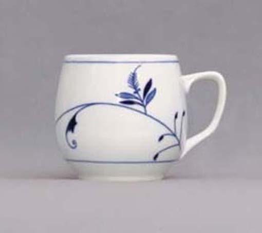 Porcelánový hrnek - Baňák Lístky český porcelán DUBÍ