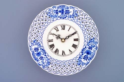 Porcelánový prolamované hodiny - talíř Dubí