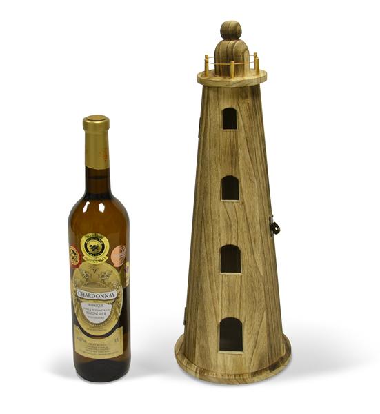 Dřevěný box (truhla) na víno Maják