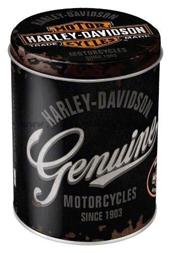 Plechová retro dóza - plechovka Harley Davidson Genuine