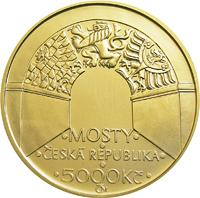 Zlatá mince Negrelliho viadukt v Praze b.k.