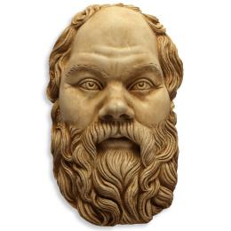Dekorace na zeď - maska na zeď Sokrates