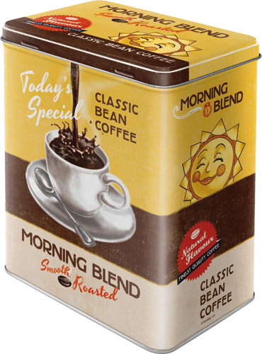 Plechová retro dóza - plechovka Coffee - Morning