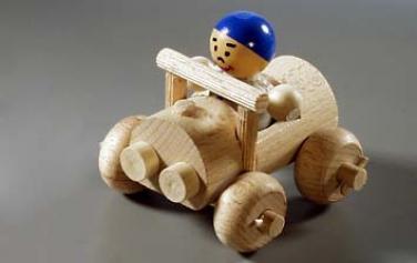 Dřevěná hračka auto maxi