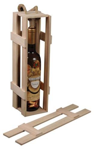 Dřevěný box na víno Nosiš 1 láhev
