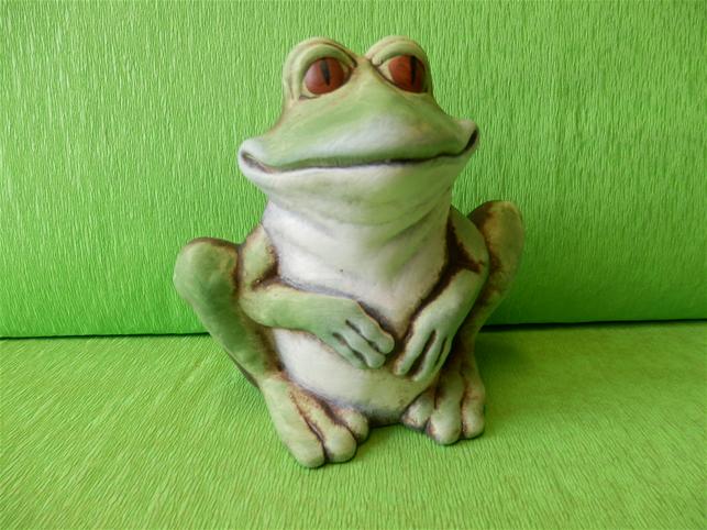 Pokladnička Žába zelená