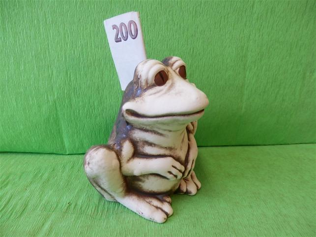 Pokladnička Žába natural