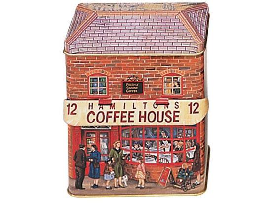 Plechová retro dóza - plechovka Domeček Coffee house Hammilton - kavárna