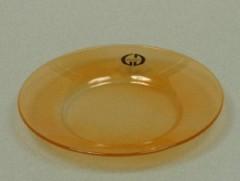 Skleněný podtácek - podložka pod svíčku Round oranžový